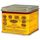Bush Lemon Yellow Colour Powder Tin