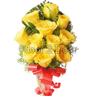 11 Yellow Roses Bunch