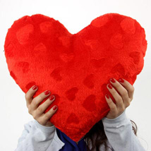 Red color Heart Pillow