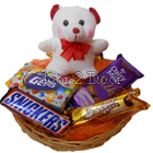 Chocolate Basket and Teddy
