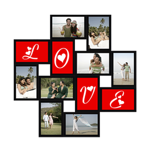 Valentine Frame with 12 Photos