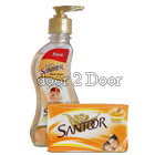 Santoor Hand Wash Oil - Free Santoor Soap