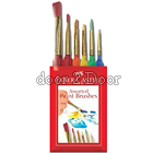 Faber Castell 6ct Triangular Handle Assorted Paint Brush - 6