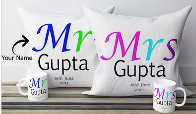 Personalized Pillow with Names
